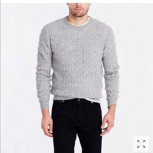 Men's Jcrew cable-knit lambs wool sweater L